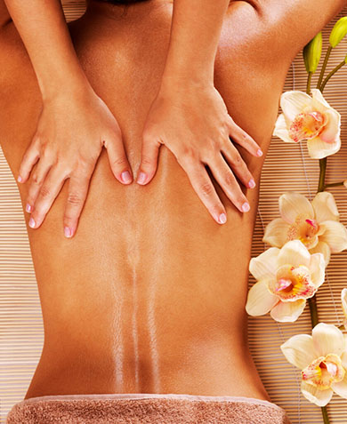 apaisement grâce à un massage californien
